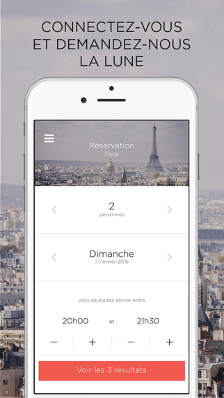 Sneat Application mobile pour réserver un restaurant